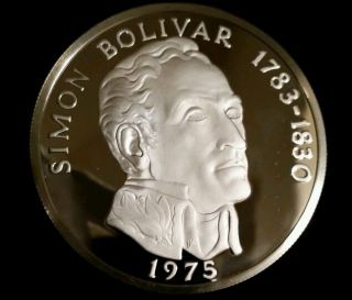 1975 Panama 20 Balboa Silver Proof Rare Low Mintage Coin Uncirculated photo