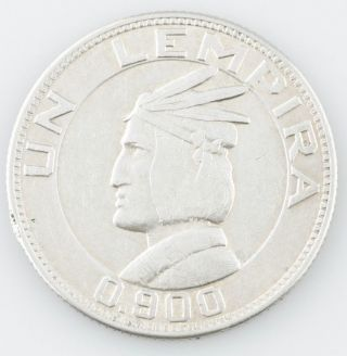 1931 Honduras Lempira,  Very Fine Silver Coin Km 75 photo