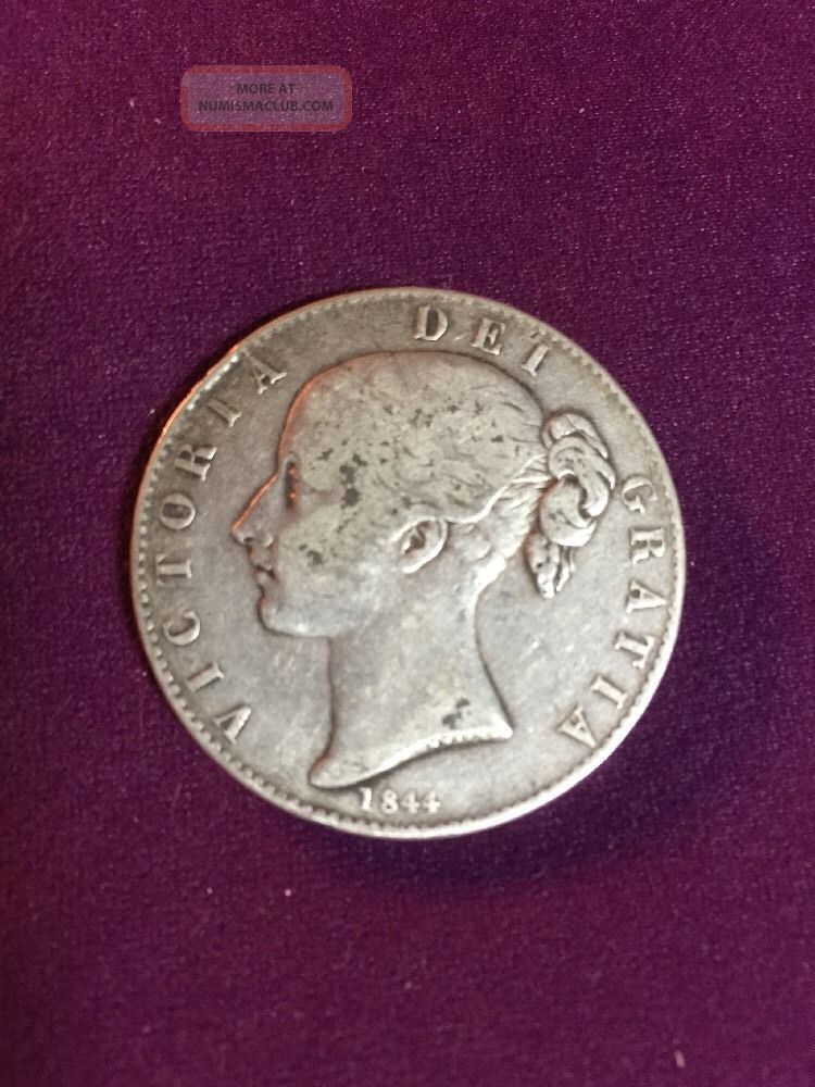 1844 Great Britain Queen Victoria Large Silver Crown