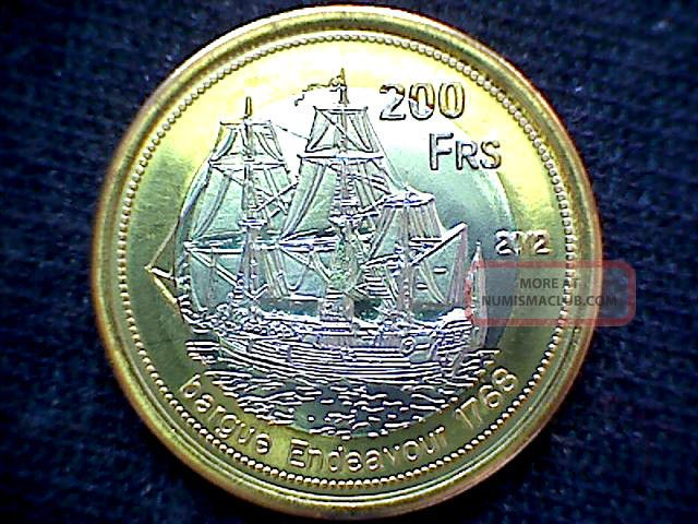 Europa Island French Southern & Antartic Lands 2011 200 Francs Bimetal Sailship Coins: World photo