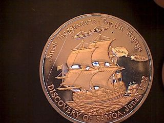 250th Anniversary Jacob Roggeveen Discovery Western Samoa 1722 - 1972 Tala Proof photo