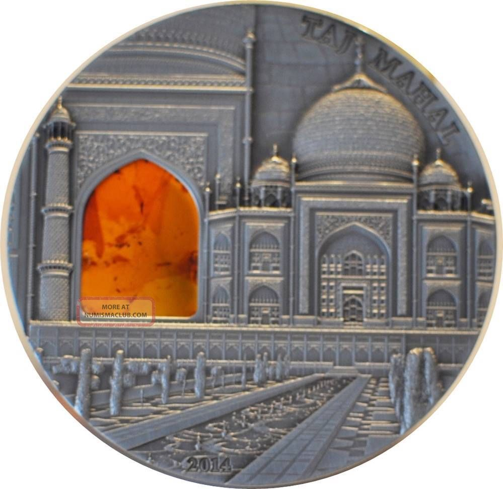2011 Palau Taj Mahal - Mineral Art Iv 2oz Silver Coins: World photo