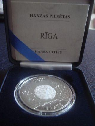 Latvia 1 Lats Collector Coin 2011 Riga Hansa City photo