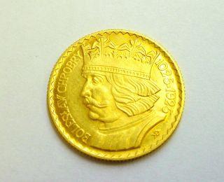 Poland 20 Zlotych 1925 B.  Chrobry Gold Coin Unc Ms, photo