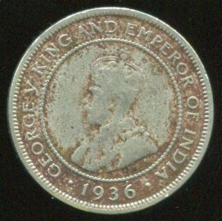 British Honduras 5 Cents 1936,  Low Mintage - Will Combine photo