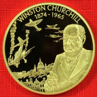 East Caribbean: 2003 $2,  Churchill,  Cupro - Nickel Gilt Proof