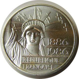 Elf France 100 Francs 1986 Piefort Statue Of Liberty photo