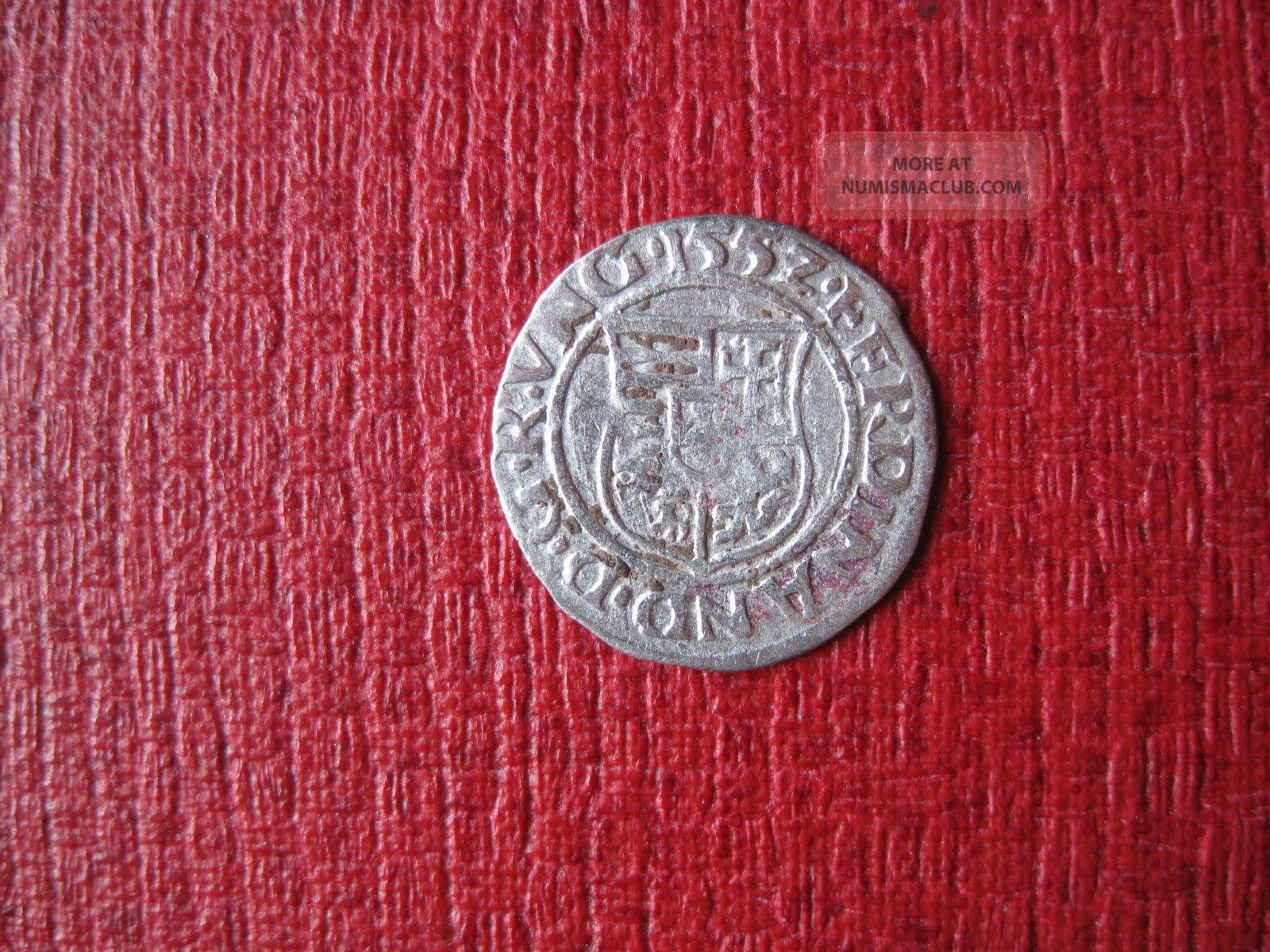 Habsburg Ferdinand Medieval Silver Denar,  1552 Kb Coins: Medieval photo