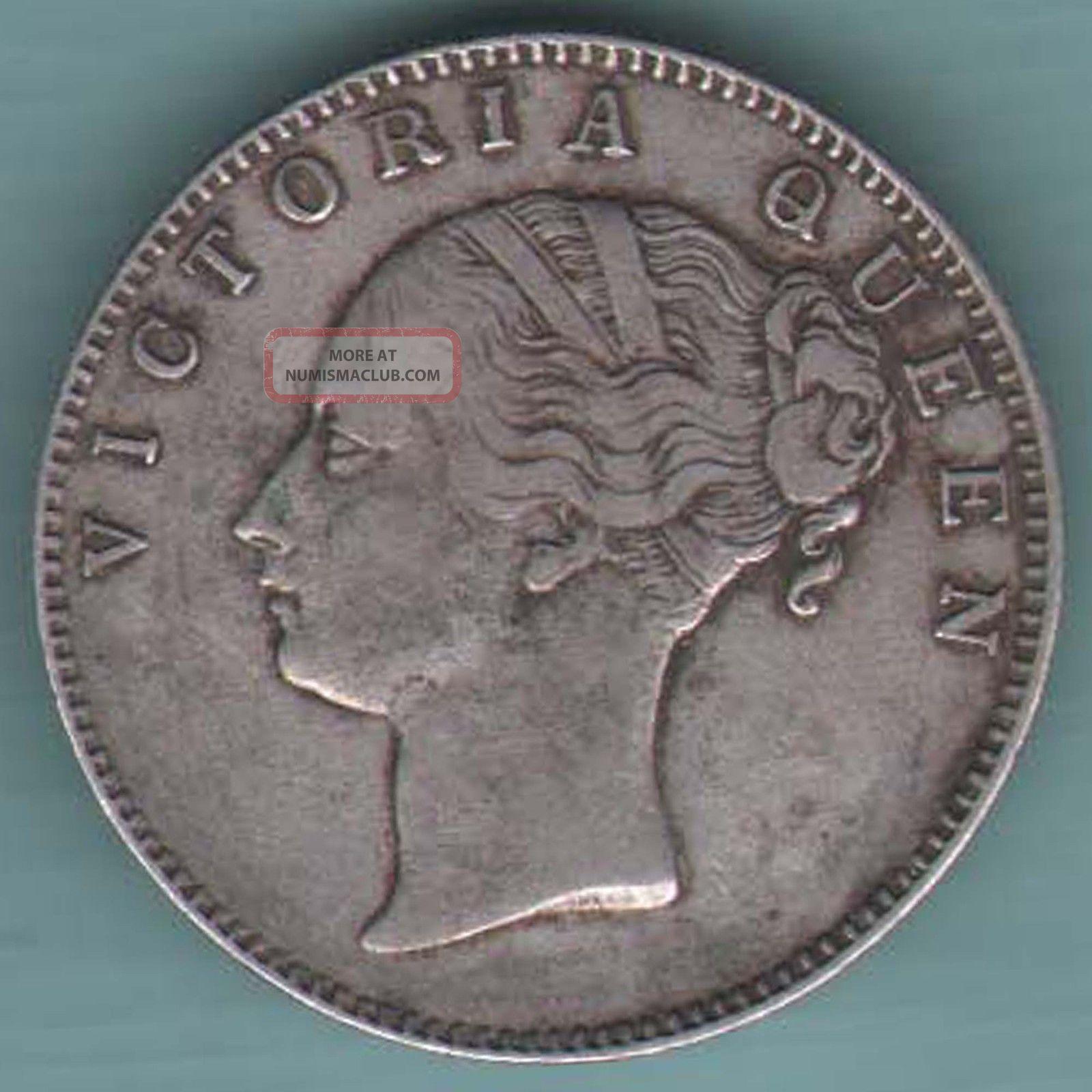 British India E I C 1840 One Rupee Vict Queen