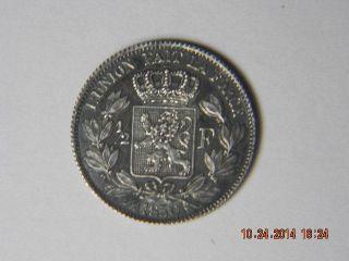 Belgium Coin 1/2 Franc 1850 Very Rare photo