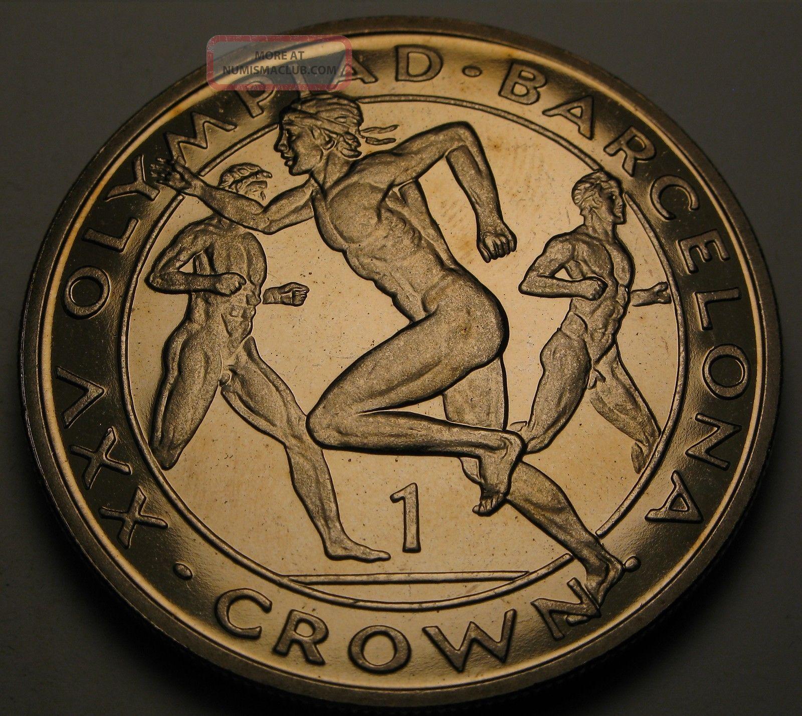 Gibraltar 1 Crown 1991 Proof - Barcelona Olympics - Elizabeth Ii.  1086 Europe photo
