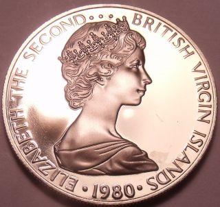 Rare Proof British Virgin Islands 1980 5 Cents Zenaida Doves 3,  421 Minted Fr/shi photo