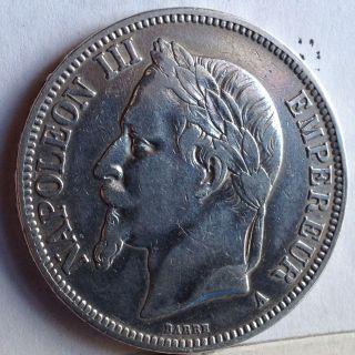 France 5 Francs Silver 1867a »» Km 799.  1 »»»»»»»»» 25 Gramms «««««««««««««««« photo