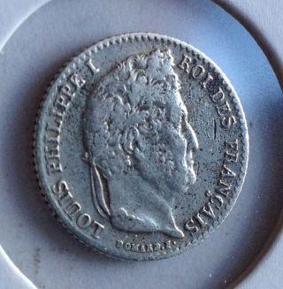 France 1/4 Franc 1835w »» Km 740.  13 »»»»»»»»»»»»» Low Mintage «««««««««««««««« photo