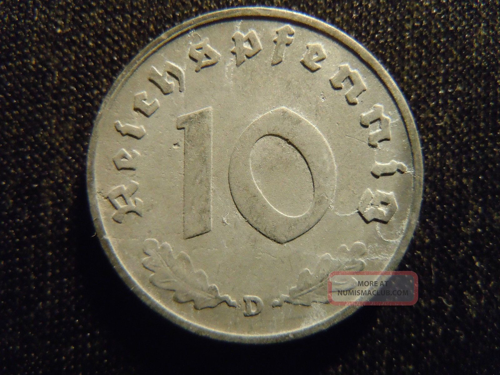 1940 D German Ww2 10 Reichspfennig Germany Nazi Coin Swastika World Ab
