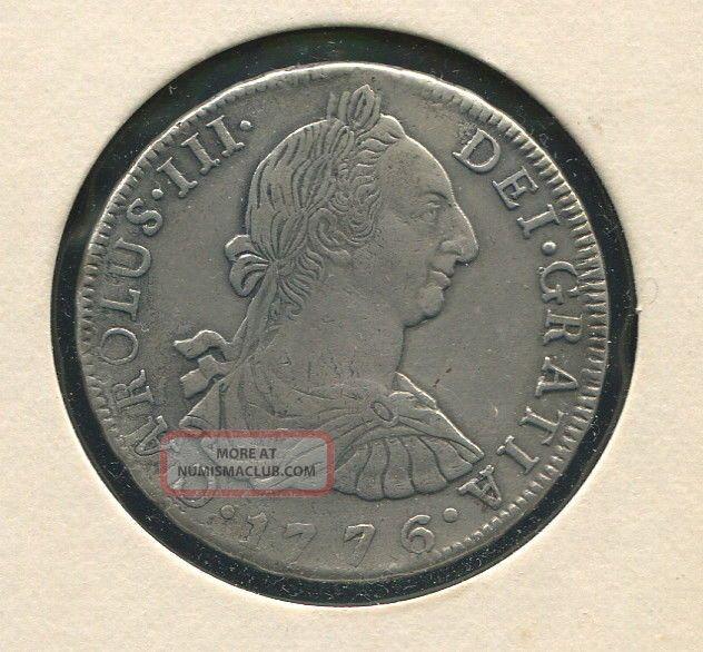 Bolivia 8 Reales Km - 55,  1776 - Pr Xf One Of Americas 1st Silver Dollars,  Scarce South America photo