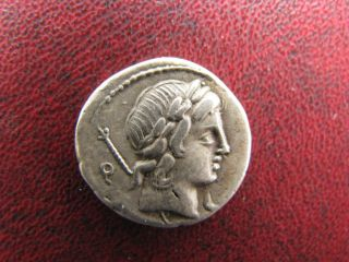 Roman Republic Ar Denarius P.  Crepusius 82 Bc photo