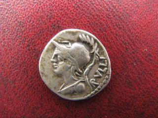 Roman Republic Ar Denarius P.  Servilius M.  F.  Rullus 100 Bc photo