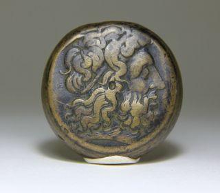 Ancient Greek Coin Ptolemy Ii Zeus 2 Eagles Alexandria Post Reform 260 Bc photo