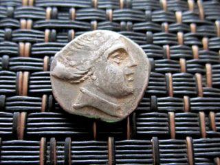 Ancient Greek Coin - Greek City Histiaia In Euboia - Silver Ar Diobol 300 - 200 Bc photo