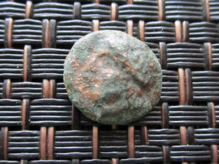 Ancient Greek Bronze Coin Unknown Very Interesting / 11mm photo