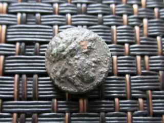 Ancient Greek Bronze Coin Unknown Very Interesting / 10mm photo