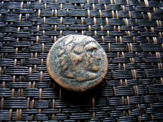 Alexander Iii The Great 336 - 323 Bc.  Bronze Drachm Ancient Greek Coin / 5,  58gr photo