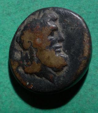 Tater Lydia Philadelphia Ae18 Coin Zeus & Lyre 1st Century Bc photo