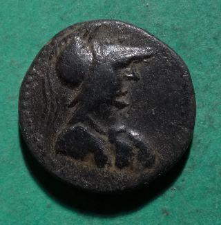 Tater Syracuse Sicily Ae20 Coin Athena & Nike 1st Century Bc Elaiussa Sebaste photo