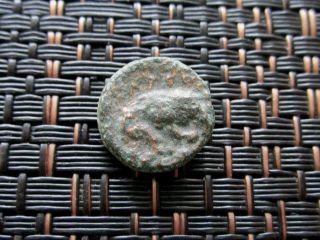 Ancient Greek Bronze Coin Unknown Very Interesting / 12mm photo