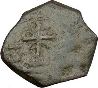 Manuel I Comnenus Ancient Byzantine Coin Cross With X At Center Labarum I38028 photo