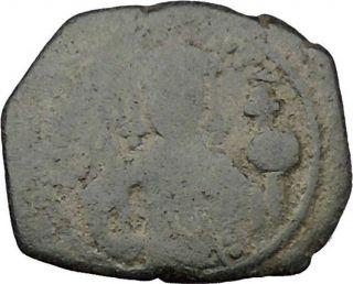John Ii,  Comnenus W Cross Ancient Byzantine Coin Jesus Chtist Labarum I38042 photo