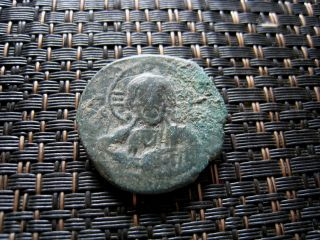 Coins: Ancient Romanus Iii 1028-1034 Ad Class B Anonymous Follis Constantinople Mint.