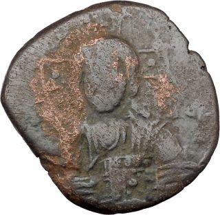Jesus Christ Gospels 1025ad Basil Ii & Constantine Viii Byzantine Coin I36880 photo