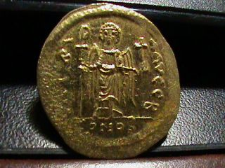 Byzantine Gold Coin Emperor Maurice Tiberius 582 - 602 Ad Vf 35,  Uncertified photo