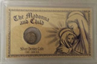 The Madonna And Child,  Silver Denier Coin photo