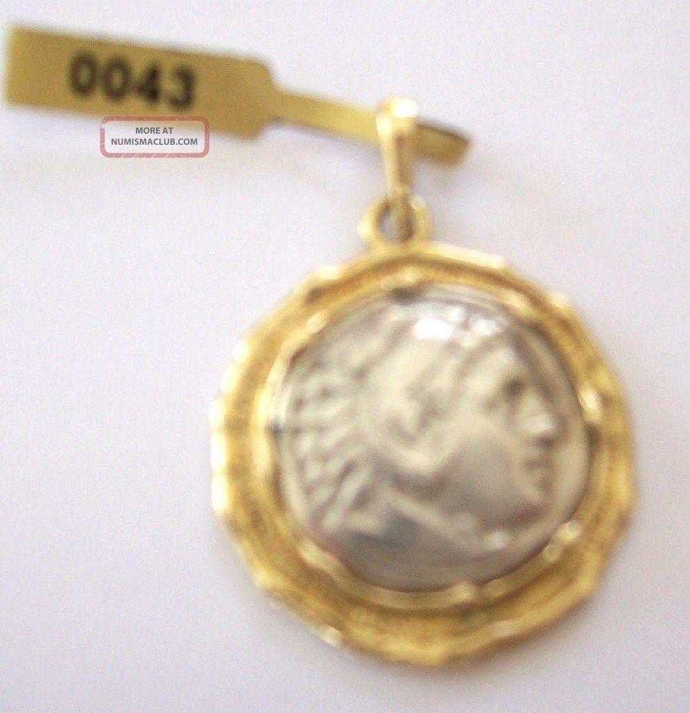 Alexthe Great Ancient Greek Silver Coin Drachm With 14k Pendant No Reserv Coins: Ancient photo