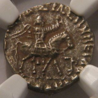 C.  58 - 19 Bc Indo - Scythian (azes Ii) - Silver Drachm - Ngc Xf 3/5 4/5 - Chach photo