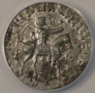 C.  35 Bc - 5 Ad Indo - Scythian (azes Ii) - Silver Tetradrachm - Anacs Vf30 photo