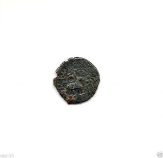 Kunindas Of Northern India Copper Coin,  2nd Bc To 3rd Ad,  Km 21 photo