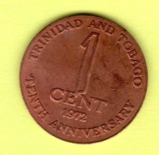 Trinidad And Tobago,  1972 1 Cent Coin photo