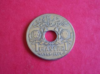 1929 Syria Coin 1 Piastre - One Piastre photo
