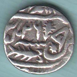 Awadh State - Ah 1223 Ry 26 - One Rupee - Rare Silver Coin Z - 29 photo