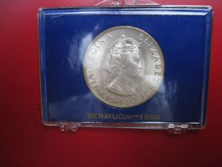 1964 Bermuda Silver Crown - Choice Brilliant Uncirculated In Packaging photo