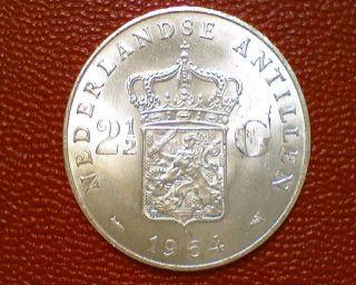 World Blowout 1964 Netherlands Antilles 2 1/2 Gulden Choice Bu Ee24 photo