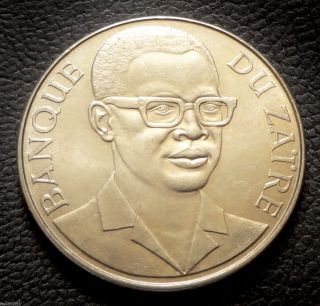 Zaire,  1973 10 Makuta Mobuto Bust Brilliant Uncirculated photo