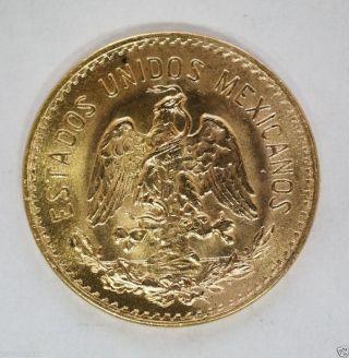 1955 Mexico 5 Five Pesos Gold (d - 63) photo