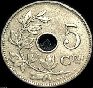 Belgium (dutch) 1922/12 5 Centime Coin - Old Belgium Coin - Date Error photo