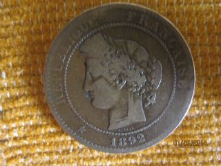 10 Centimes 1892a France photo