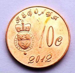Redonda Island Antigua & Barbuda 10 Cents 2012 Titanic Anniversary Bell Unc Coin photo